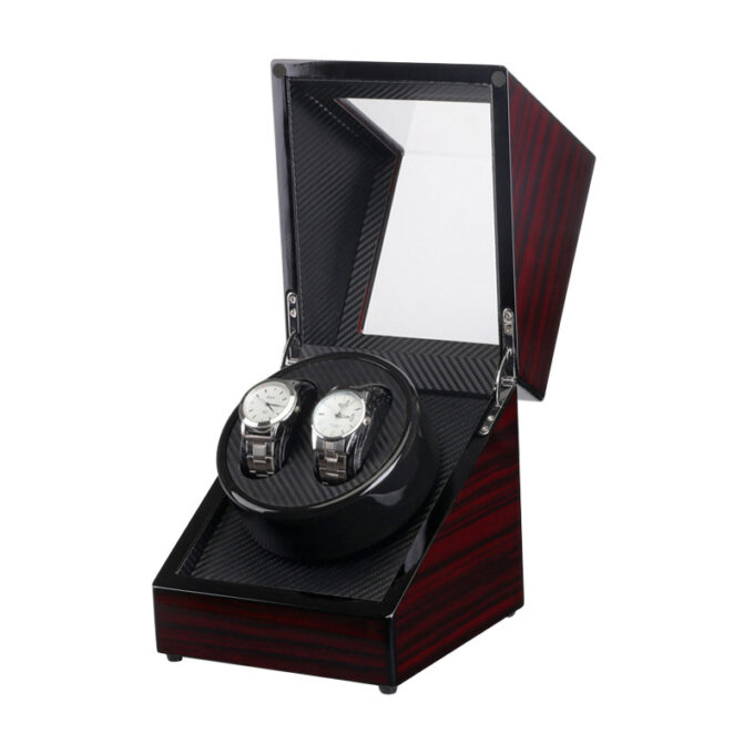 Mahogany-Carbon-Fiber-Watch-Winder-for-2-Watches-2-680×680